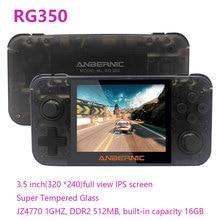 وحدة تحكم ألعاب فيديو محمولة RG350 ، شاشة IPS 3.5 بوصة ، ألعاب ريترو ، ترقية ، مع بطاقة ذاكرة 32 جيجابايت ، أكثر من 3500 لعبة