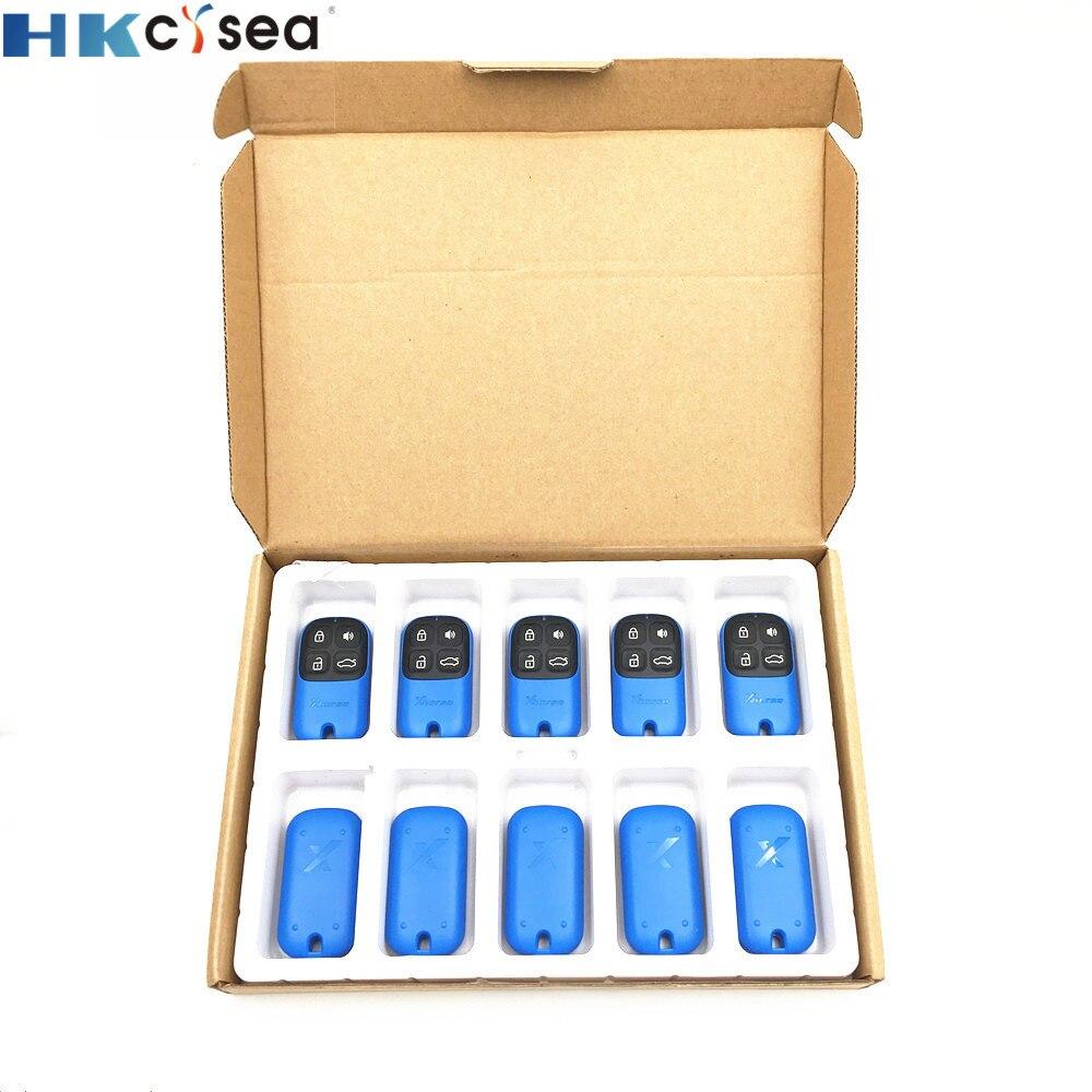HKCYSEA 10 шт. новая модель синего цвета 4 кнопки Xhorse VVDI2 Автомобильный ключ дистанционного управления XKXH01EN Английская версия для VVDI ключ инструм...