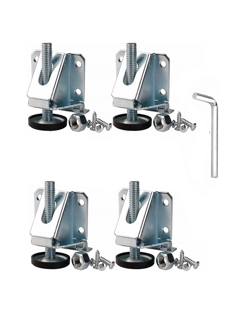 Glides-Feet Cabinet Furniture Height Adjustable Metal Heavy-Duty Leveling 4PCS for And