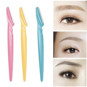 1Pc Portable Eyebrow Trimmer Hair Remover Set Women Face Razor Eyebrow Trimmers Blades Shaver For Makeup Cosmetic Kit Dropship(China)