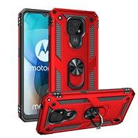 Armor-funda de teléfono a prueba de golpes para móvil, carcasa de lujo con soporte de anillo para Motorola E7 Power 2021 Plus E6S E 2020 E5 Play Z4 E6