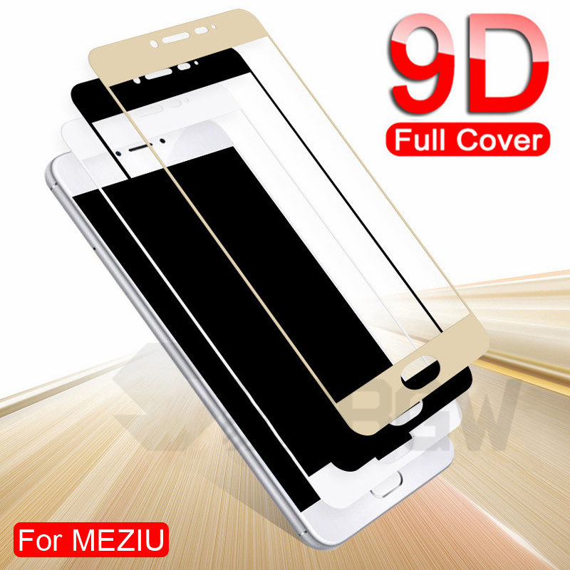 9D Full Cover Protective Glass On For Meizu M3 M5 M6 Note M6 M6S M6T M3S M3E M5S M5C Pro 7 Plus Tempered Screen Protector Glass
