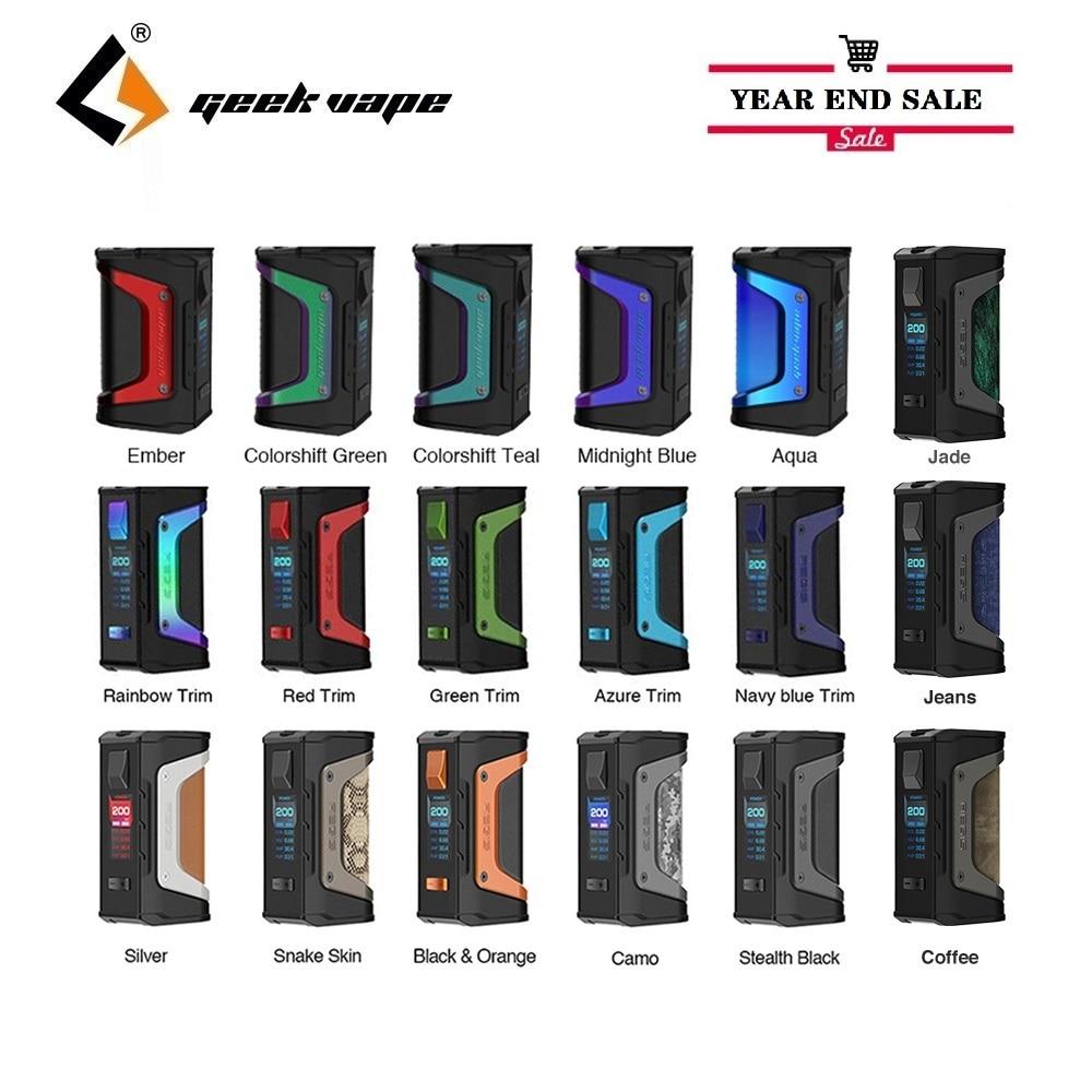 Hot Original GeekVape Aegis Legend Box MOD 200w Mod Powered By Dual 18650 Batteries E Cigs Mod No Battery Vs Aegis X/ Aegis OLO
