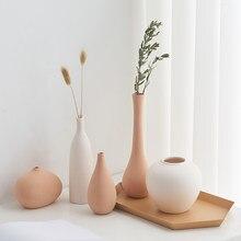 Nordic Ceramic Vase Mini Vase Flowers Home Decoration Bottle Flower Basket Plant Pots Decorative Minimalist Decor Desk Decor