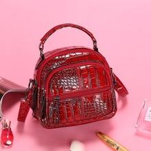 Mini simple style backpack women PU leather backpack 2019 high quality crocodile pattern female small elegant lady shoulder Bag