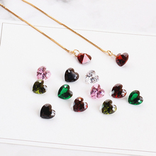6pcs new fashion love crystal zircon left and right side of single hole pendant earrings for women diy jewelry accessories