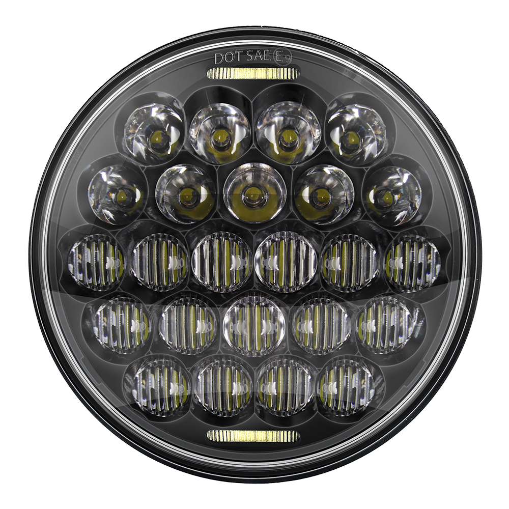 Round Motorcycle headlight 5D 5.75'' <font><b>led</b></font> Driving Lights For Harley <font><b>883</b></font> Iron Sportster 5 3/4 inch Black Projector Motor Headlamp image
