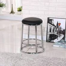 Chair Stool Dining-Table High-Foot-Bar Bench Hall Stainless-Steel Home