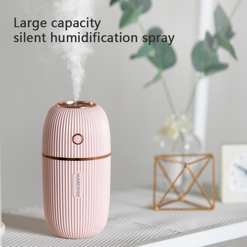 300ML Aroma Oil Diffuser Mini Ultrasonic Air Humidifier USB Mist Maker Portable Car Freshener Purifier Fogger With Night Lights