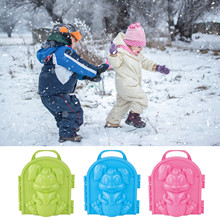 Cartoon-Rabbit Snowball Maker Clip Tool Toy Kids Toy for Winter Outdoor Sports Ampolla de nieve Cloque de neige P% C4% 99cherz +% C5% 9Bnie% C5% BCny