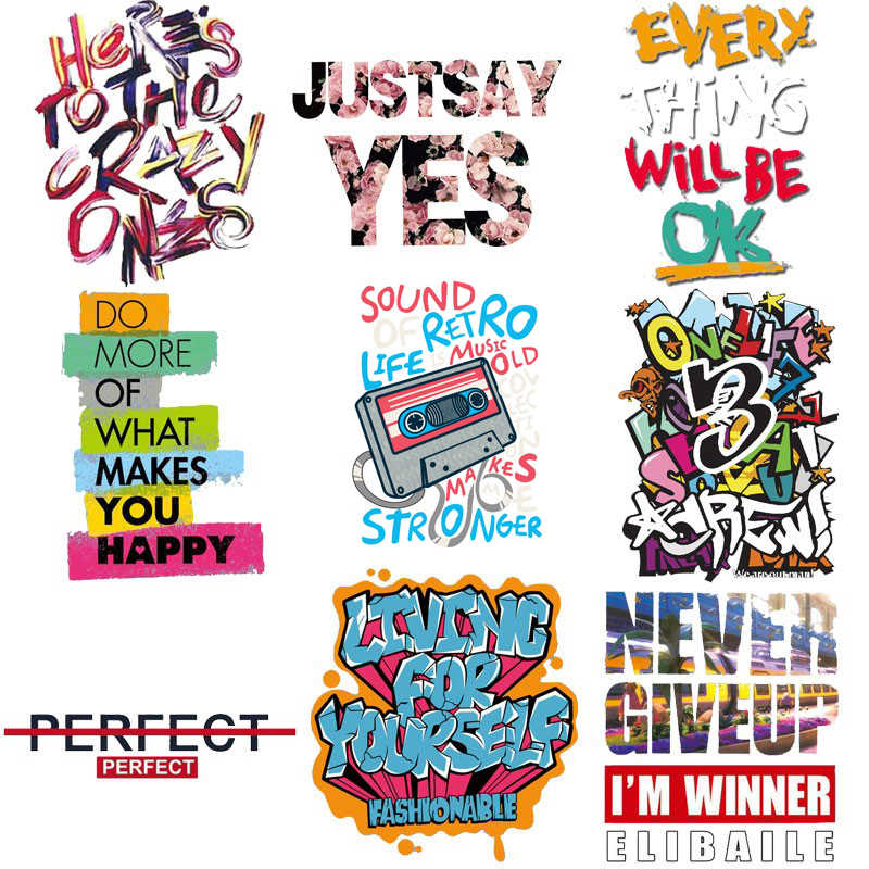 Top Fashion Strepen Rock Brief Ijzer Op Stickers Voor Kleding Transfer Tops Patches Kleding Toepassingen Diy T-shirt Applicaties