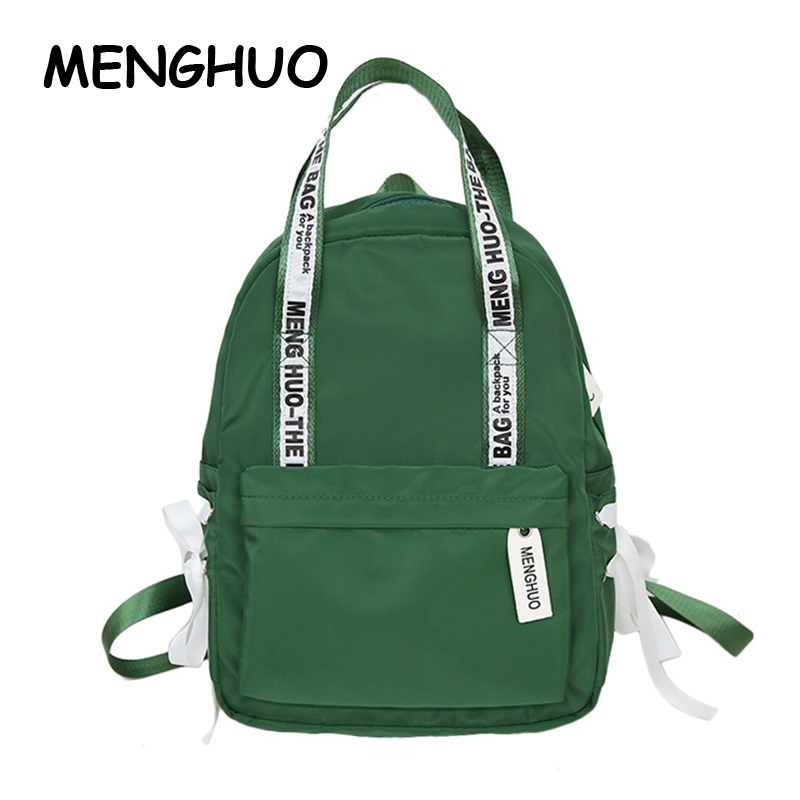 Menghuo Travel Backpacks Student-Bag Women Bags Plaid Large-Capacity Personality High-Quality