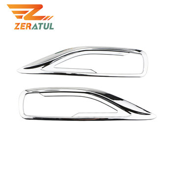 Zeratul for Toyota FORTUNER SW4 2016 2017 2018 2019 Car Rear Fog Light Cover ABS Chrome Car Fog Lamps Cover Trim Parts image