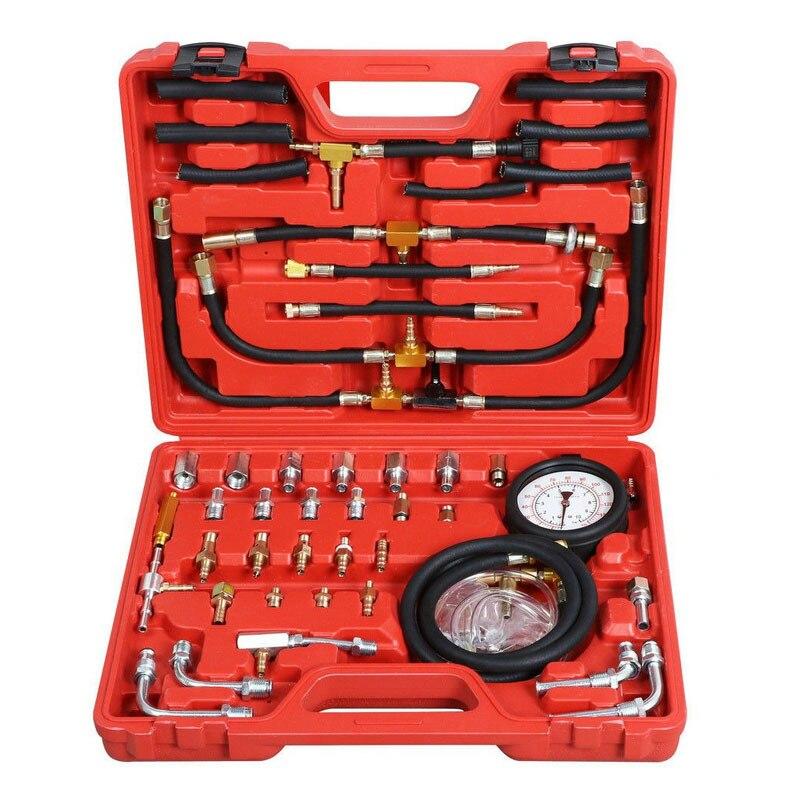 Kit d'essai universel de moteur de jauge de pression de carburant de TU-443 de voiture testeur de pompe d'injection de carburant 0 ~ 100 psi/10 Bar pression de carburant