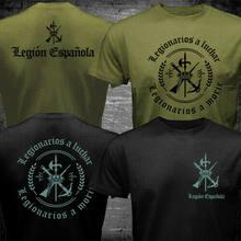 Camiseta militar do exército da legião espanhola da legião estrangeira da espanha
