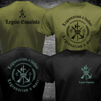 Spain Foreigh Legion Spanish Espanola Tercio Army Military T-Shirt - discount item  11% OFF Tops & Tees