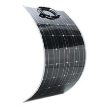2019 Hot sell new technology semi flexible solar panel 100w solar panel 12v solar battery charger for car/boat made in China