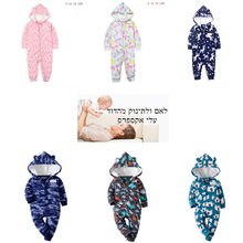 Детский комбинезон для мальчиков и девочек; зимняя одежда с рисунком единорога; комбинезон на молнии с капюшоном и длинными рукавами; комбинезон для новорожденных; комбинезоны для новорожденных в стиле унисекс