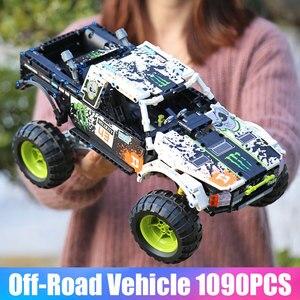 Image 5 - MOC 3320 voiture technique Compatible avec 42099 énergie recul Baja camion blocs de construction assemblage briques jouets enfants cadeau de noël
