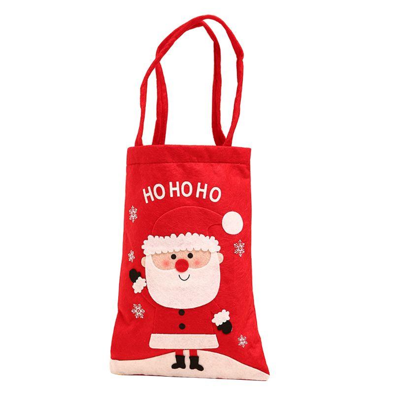 Christmas Candy Holder Storage Handle Bag Xmas Party Favors Gift Decoration U50C