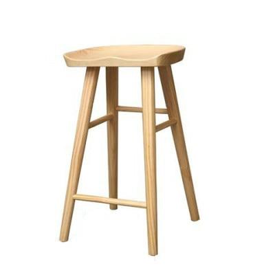 Nordic Bar Stool Modern Minimalist Bar Chair Solid Wood Home Creative Bar Chair Fashion High Stool