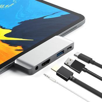 4 en 1 USB C HUB tipo C a 4K HDMI USB3.0...