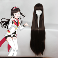 Anime Love Live Sunshine Cosplay Wigs Dia Kurosawa Cosplay Wig Heat Resistant Synthetic Wig Hair Halloween Party Women Wig