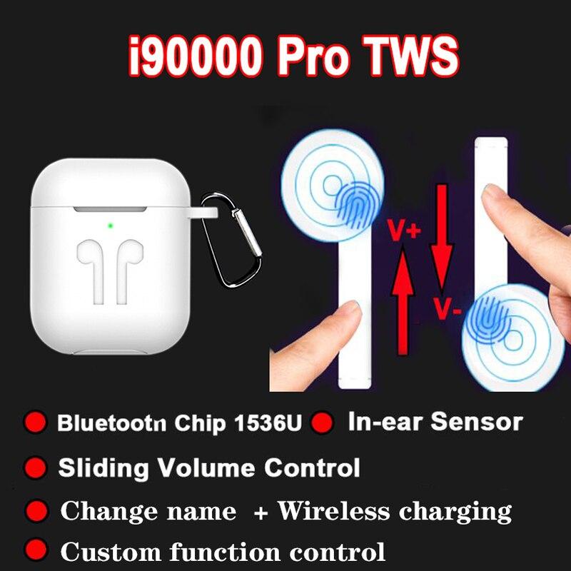 Casque sans fil i90000 Pro TWS Bluetooth écouteur sport casque fone de ouvido réglage du Volume coulissant pk i5000 i100000