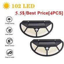 102 светодиодный солнечный светильник уличный ing лампа на солнечных