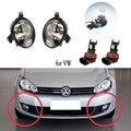 LED Fog Lights for VW for Golf 6 MK6 2009-2013 Fog Light for Jetta 6 Caddy Touran Tiguan 2011-2016 Fog Lamp Cover Grill Frame