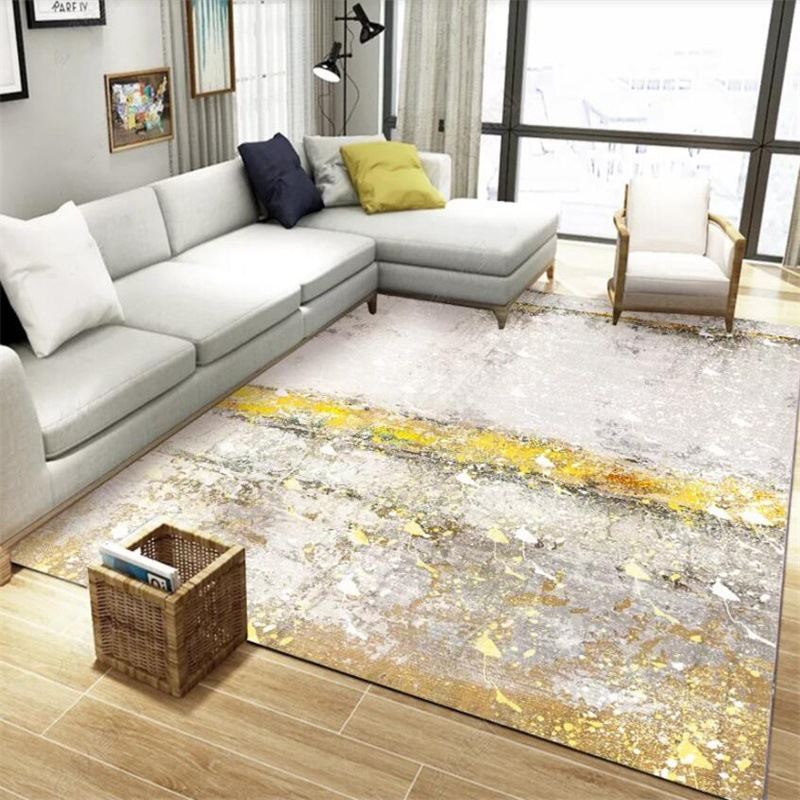 US $8.75 37% OFF|Light Luxury Carpets Living Room Abstract Golden Gray  Marble Pattern Area Rugs Sofa Coffee Table Kids Bedroom Bedside Floor Mat  on ...