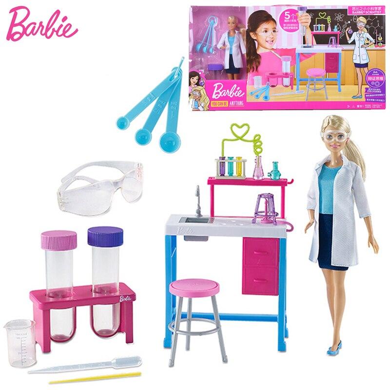 Barbie Original poupée boîte cadeau petit scientifique carrière intéressante expérience anniversaire princesse enfants fille jouets pour enfant Jugetes