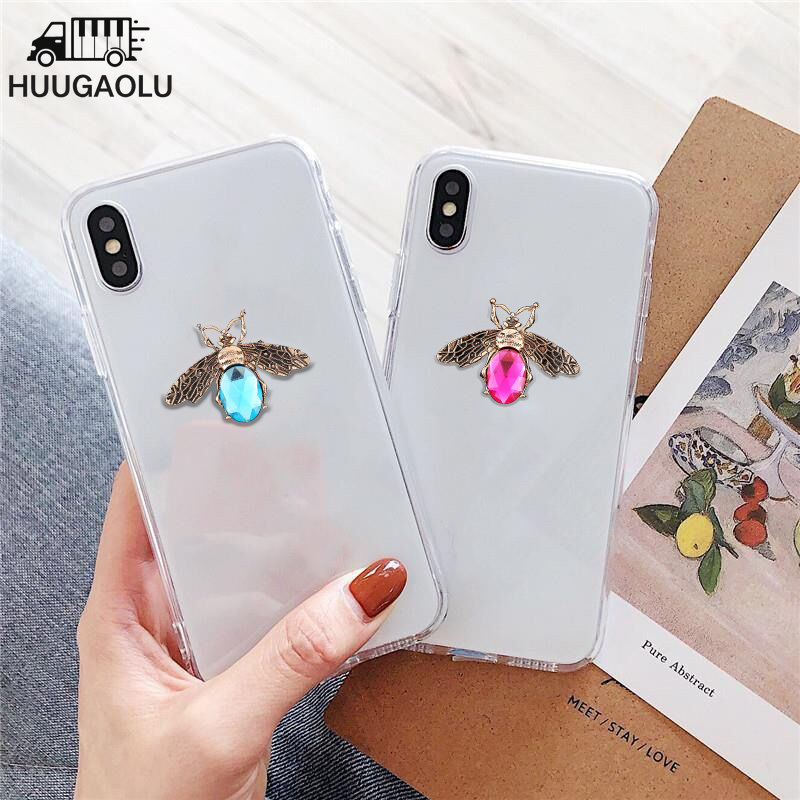 3D Cute Bee Cases For Motorola Moto G4 G5 G5S G6 G7 G8 E4 E5 E6 Plus Z2 Z3 Z4 P40 Play Case Clear Silicone TPU Back Cover Etui