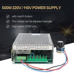 Image 2 - 0.5kw 공냉식 스핀들 ER11 척 CNC 스핀들 모터 500W + 52mm 클램프 + 전원 공급 장치 속도 조정기 조각 용