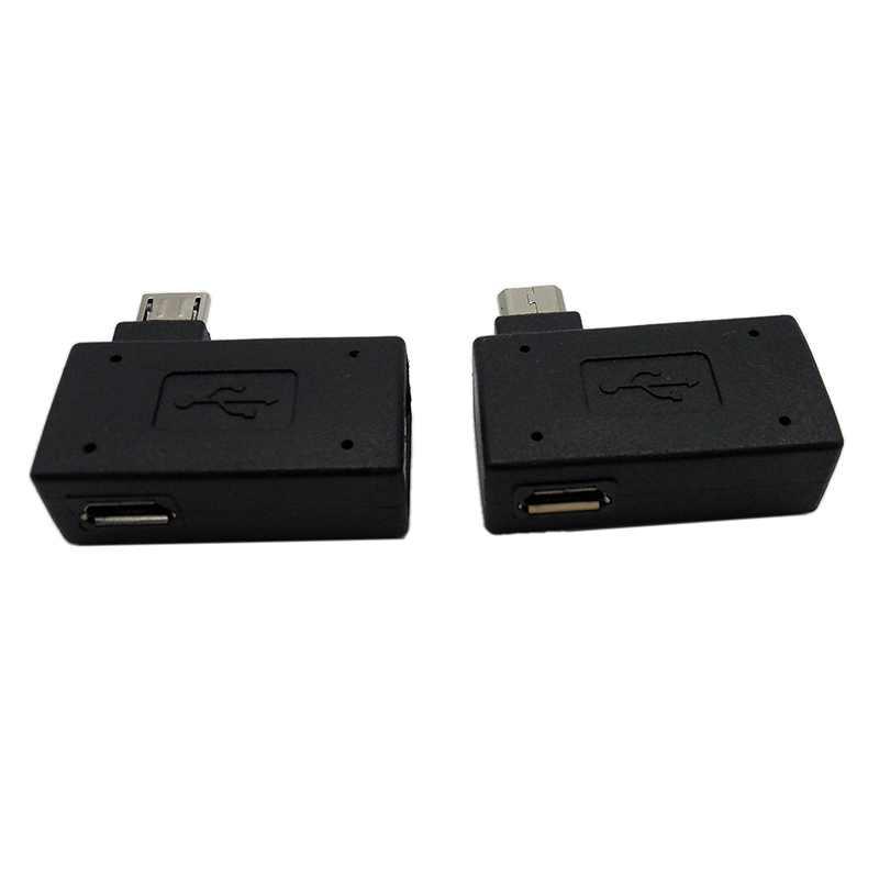 Micro Adapter USB 2.0 Female To Male Micro OTG Power Supply 2018 Port 90 Degree Left 90 Right Angled USB OTG Adapters