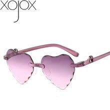 Kids Sunglasses Eyewear Uv400-Goggles Gradient Mirror Rimless Heart Baby-Girls Child
