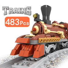 Model Technic Building Blocks Classic City Train Power-Driven Diesel Rail Train Cargo With Tracks Set Vehicle Toys For Children 98219 98220 compatible city series power driven diesel rail train cargo with track set model building blocks toys for kids