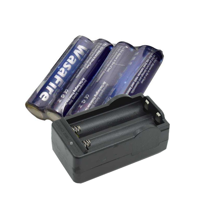 WasaFire 4x 3000mAh 3.7V 18650 Li-ion Rechargeable Battery + Charger For LED Flashlight Torch Flash Light Headlamp