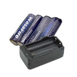 Wasafire 4x3000 mah 3.7 v 18650 li-ion bateria recarregável + carregador para lanterna led tocha flash luz farol
