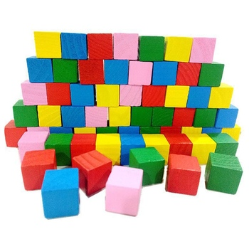 16/20Pcs/Set Colorful Cubes Wooden Building Blocks Stack Tower Collapses Games Stacking Up Square Wood Toy Educational Gift