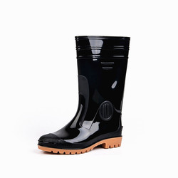 Fashion Men Rain Shoes Vehicle Cleaning Environmentally Friendly Non-toxic Synthetic Rubber Labor Safety Men's Rain Boots Oil Re