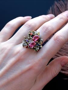 Cz-Ring Jewelry Zircon Stunning Engagement Party Dreamcarnival 1989 Vintage Women Eye-Catching