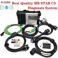Top Qualität MB STAR C5 Auto Diagnose Werkzeug MB SD Verbinden Kompakte 5 Update durch MB Star Diagnosis c4 Unterstützung wifi mit Software SSD