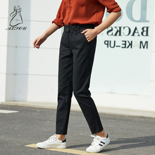 Autumn and winter new women's wild casual tooling pants was thin  pants Harlan carrot pants wear loose joggers streetwear punk b grid carrot pants
