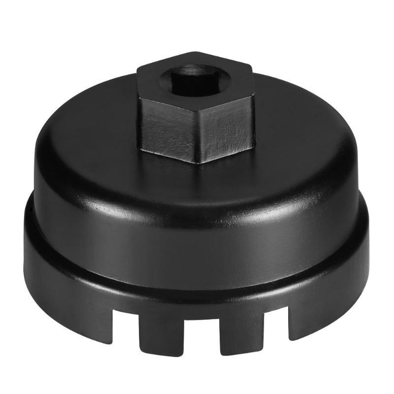 14 Flute 64.5mm Aluminum Oil Filter Cap Wrench 3/8 Square Drive Socket Remover Removal Tool For Toyota Lexus Rav4