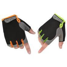 Para esportes ao ar livre Ciclismo Escalada Anti-Slip Shockproof Luvas Unissex Meio Dedo