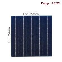 Zonne Panel Cel Hoge Efficiëntie Monokristallijne Fotovoltaïsche 5.62W 158Mm X 158Mm 100 Stks/partij Voor Diy pv Power System