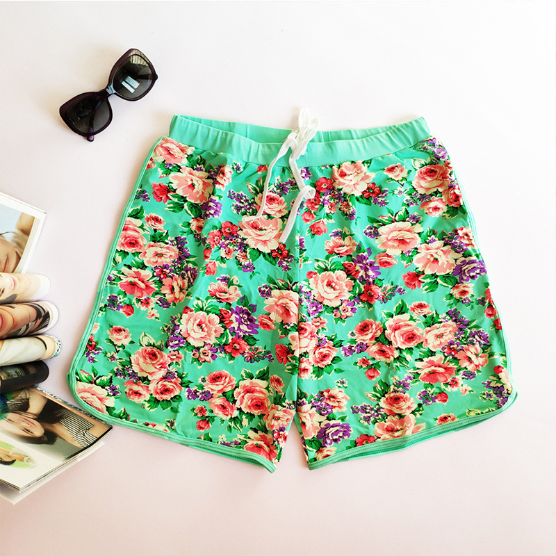 Beach Shorts Men's Loose-Fit 2019 New Style Seaside Holiday Swimming Trunks Trend Men Bubble Hot Spring-Style Flower Shorts
