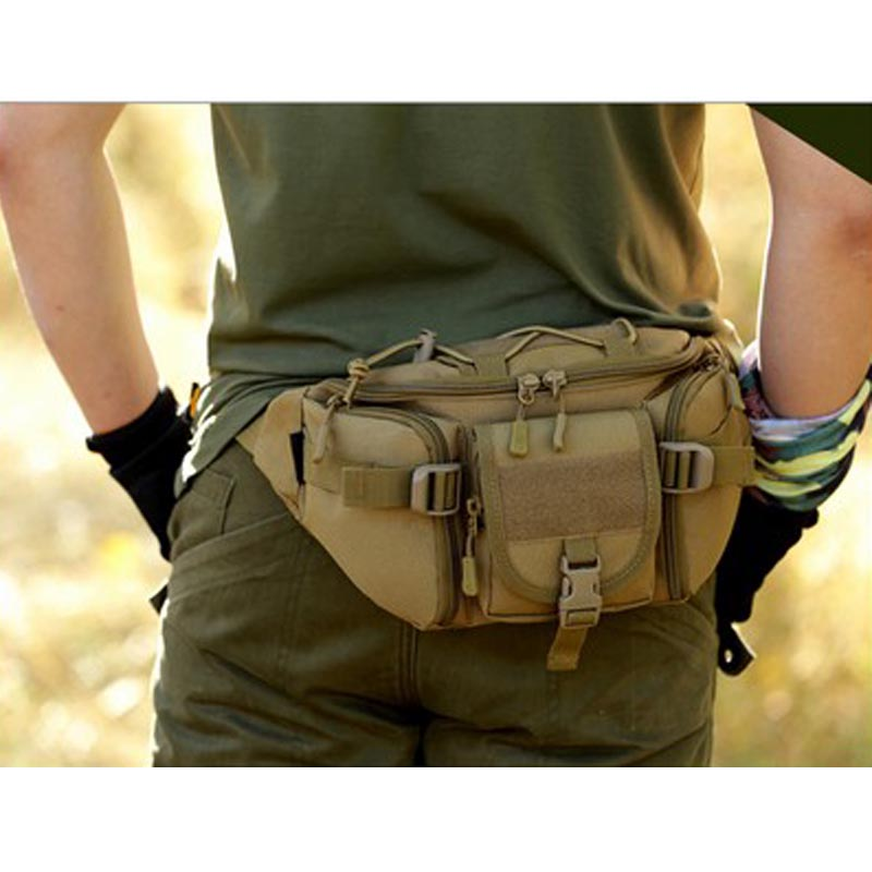 Men Waterproof  Waist    Military   Bag Hiking Fishing Hunting Camping Travel Hip Bum Belt #Ne