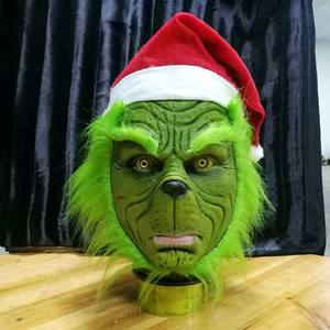 Wacky Grinch Shawl Christmas Role-playing Party Masks Adult Costume Grinch Masks